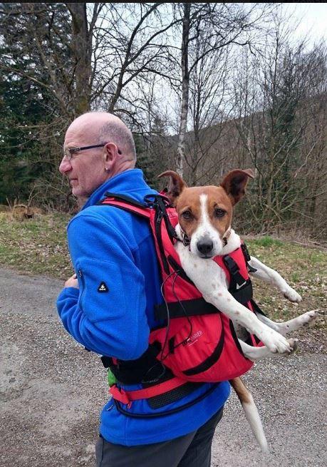 Rucksack zum Tragen von Hunden bis 10 kg Gewicht