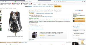 Rezension Hunderucksack / Hundetrage Dog carrier für Hunde bis 30kg